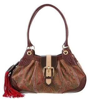 Etro Embossed Leather Shoulder Bag