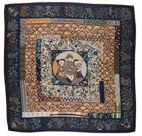 Hermes Piqué Fleuri de Provence Cashmere Silk Shawl