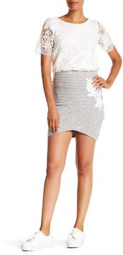 Desigual Hi-Lo Striped Skirt