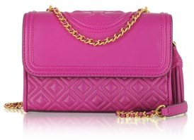 Tory Burch Women's Fuchsia Leather Shoulder Bag. - PINK - STYLE