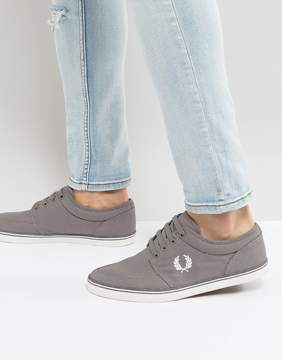 Fred Perry Stratford Canvas Sneakers in Gray