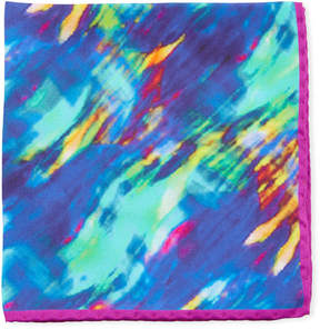 Bugatchi Abstract-Print Silk Pocket Square