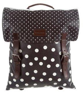 Dolce & Gabbana Polka Dot Print Backpack - BLACK - STYLE