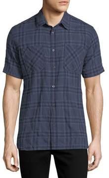 Billy Reid Clarence Plaid Cotton Shirt