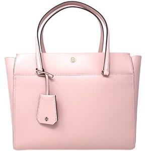 Tory Burch Women's Parker Leather Top-Handle Bag Tote - Pink Quartz / Cardamom - PINK QUARTZ / CARDAMOM - STYLE