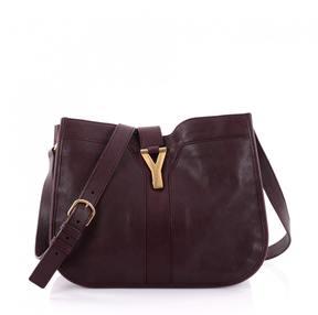 Saint Laurent Red Leather Handbag - RED - STYLE