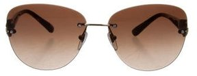 Bvlgari Embellished Rimless Sunglasses