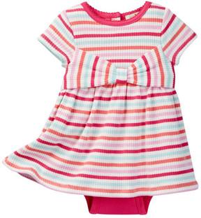 Kate Spade Jillian Stripe Skirted Bodysuit (Baby Girls)
