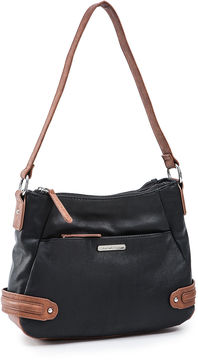 STONE AND CO Stone And Co Kathryn Double Top-Zip Leather Shoulder Bag