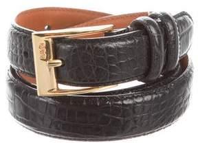 Ralph Lauren Embossed Leather Buckle Belt