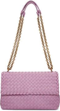 Bottega Veneta Purple Intrecciato Small Olimpia Chain Bag