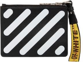 Off-White Diagonal Stripes Leather Pouch
