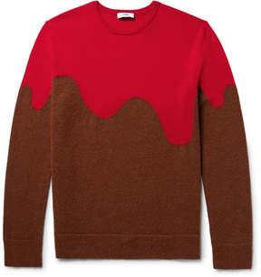 Cmmn Swdn Two-Tone Merino Wool-Blend Sweater
