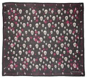 Alexander McQueen Women's Starlight Skull Silk Chiffon Scarf