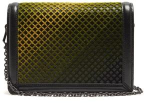 Bottega Veneta Montebello mini leather and velvet cross-body bag