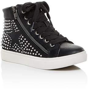 Steve Madden Girls' High-Top Studded Star Sneakers - Little Kid, Big Kid