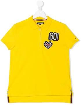 Tommy Hilfiger Junior TEEN racing badge polo shirt