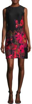 Donna Ricco Women's Printed Cocktail Dress