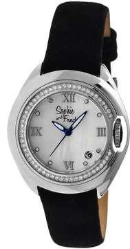 Mother of Pearl Sophie And Freda Belize White Dial Silver-tone Stainless Steel Case Ladies Watch