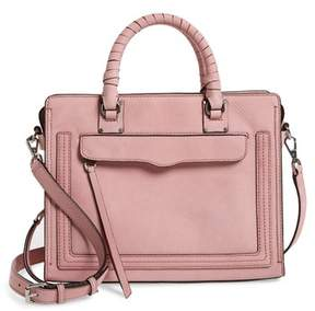 Rebecca Minkoff Medium Bree Leather Satchel - PINK - STYLE