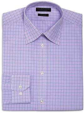 Bloomingdale's The Men's Store at Overcheck Regular Fit Dress Shirt - 100% Exclusive