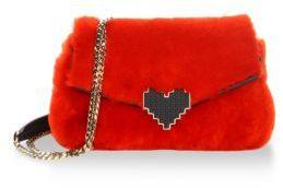Les Petits Joueurs Ivy Lolita Fur & Leather Shoulder Bag