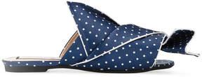 No.21 polka dot flat mules