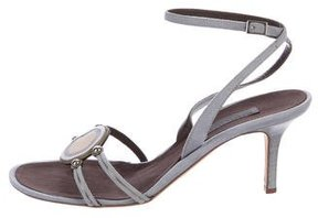 Alberta Ferretti Suede Embellished Sandals