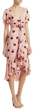 Cinq à Sept Mateo Silk Floral-Print Dress