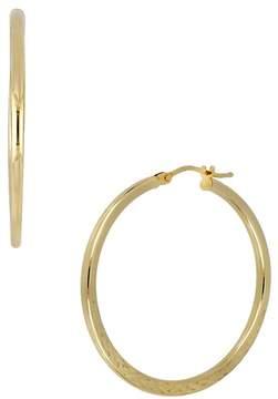 Bony Levy 14K Yellow Gold Textured 35mm Hoop Earrings