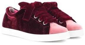 Fendi Velvet sneakers