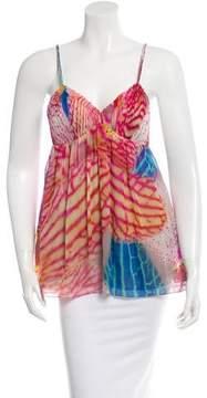 Matthew Williamson Printed Sleeveless Silk Top