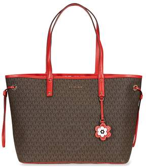 Michael Kors Carter Large Tote- Brown/Begonia - ONE COLOR - STYLE