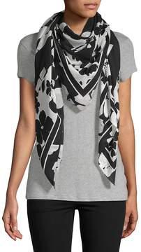 McQ Women's Floral-Print Silk Scarf