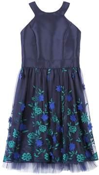 Speechless Girls 7-16 Embroidered Applique Floral Skirt Dress