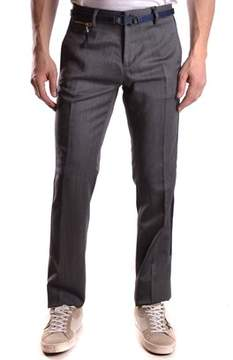 Frankie Morello Men's Grey Wool Pants.