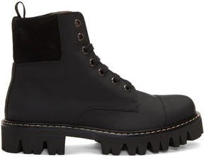 Marc Jacobs Black Lace-Up Boots
