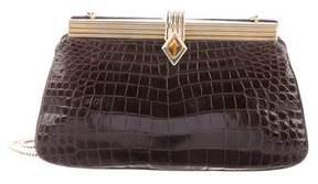Judith Leiber Crocodile Frame Bag