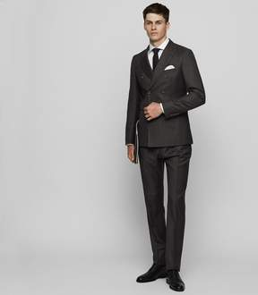 Reiss Lowell Check Double Breasted Suit