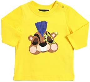 DSQUARED2 Justin Beaver Cotton Jersey T-Shirt