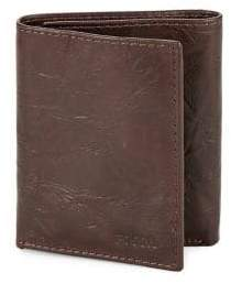 Fossil Textured Leather Tri-Fold Wallet