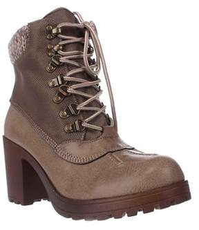 Rock & Candy Mila Lug Sole High Top Ankle Boots, Taupe.