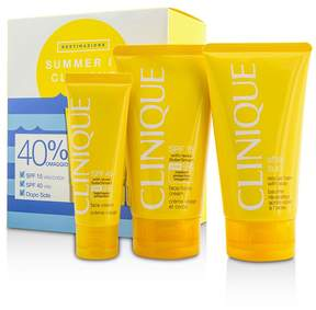 Clinique Summer In Coffret: Face Cream SPF 40 50ml+ Face/Body Cream SPF 15 150ml + After Sun Rescue Balm With Aloe 150ml