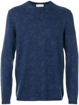 Etro light floral embroidery sweatshirt