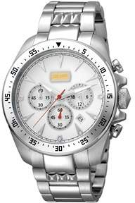 Just Cavalli Mens Ss Watch With Ss Band And White Dial.