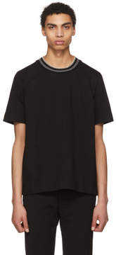 Jil Sander Black Knit Collar T-Shirt