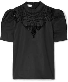 Co Embellished Cotton-poplin Top - Black
