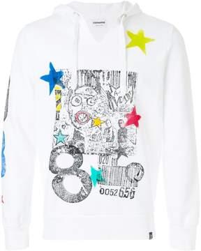 Converse graffiti and star print hoody