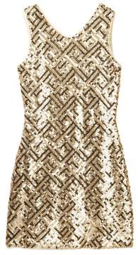Blush by Us Angels V-Neck Sequin Sheath Dress (Big Girls)