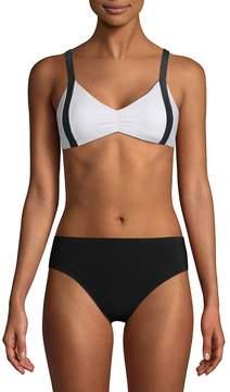 Pilyq Women's Colorblock Bikini Top